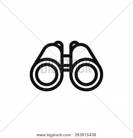 Binocular Icon Isolated On White Background. Binocular Icon In Trendy Design Style. Binocular Vector