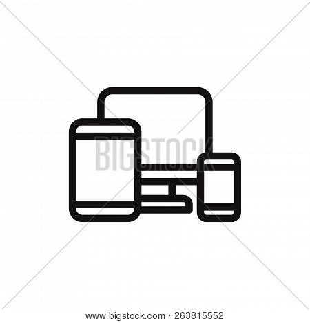 Responsive Web Design Icon Isolated On White Background. Responsive Web Design Icon In Trendy Design