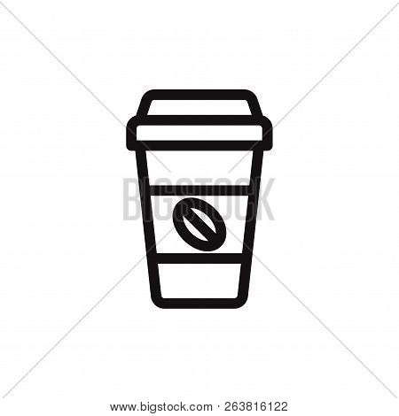 Coffee Paper Cup Icon Isolated On White Background. Coffee Paper Cup Icon In Trendy Design Style. Co