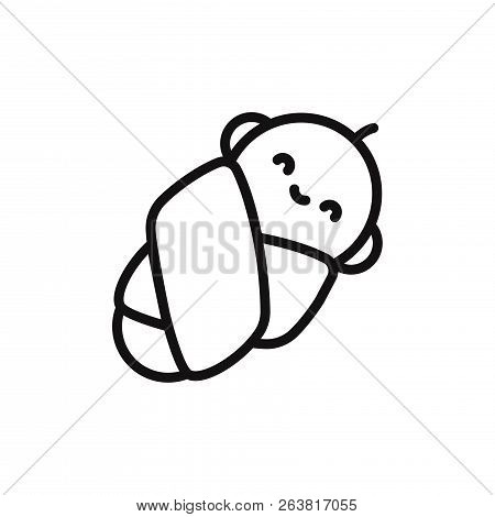 Baby Icon Isolated On White Background. Baby Icon In Trendy Design Style. Baby Vector Icon Modern An