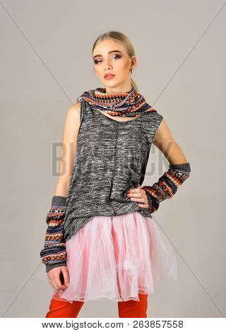 Fashion Portrait Of Woman. Hip Hop Girl With Fashionable Hair. Woman Maintaining Fashion Blog. Beaut