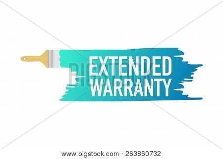 Banner With Brushes, Paints - Extended Warranty. Vector Stock Illustration.
