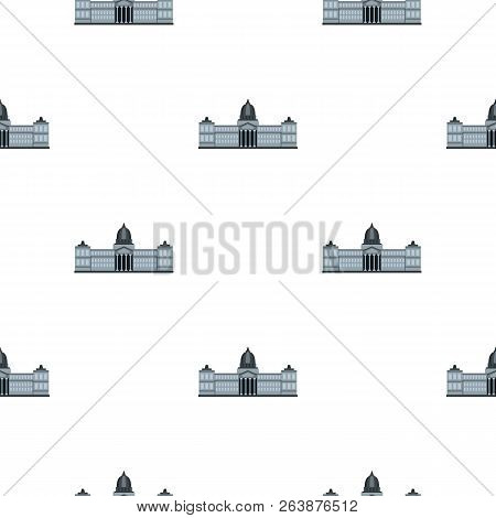 National Congress Building, Argentina Pattern Seamless Background In Flat Style Repeat Illustration