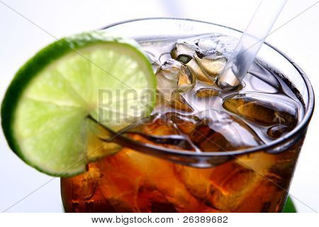 fresh and tasty summer ice tea