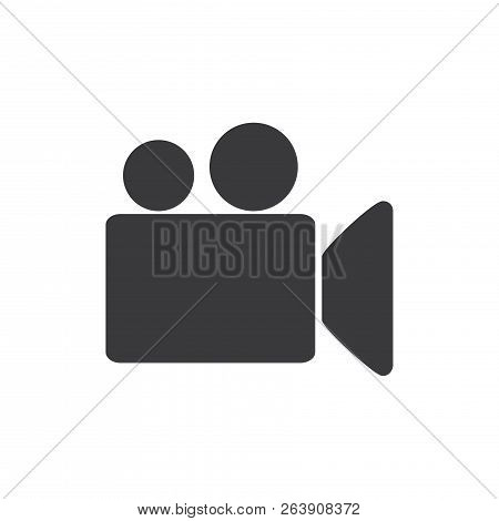 Video Camera Vector Icon On White Background. Video Camera Icon In Modern Design Style. Video Camera