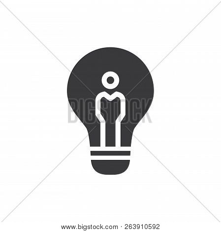 Idea Vector Icon On White Background. Idea Icon In Modern Design Style. Idea Vector Icon Popular And
