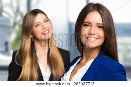 Couple of female managers in the office