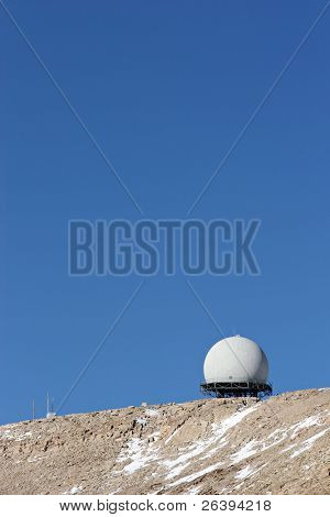 radar facility in northern wyoming, controlling the skies of the midwest