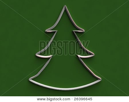 3D Metal Christmas Tree