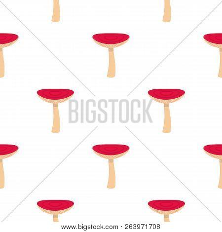 Mushroom Russet Pattern Seamless Flat Style For Web Illustration