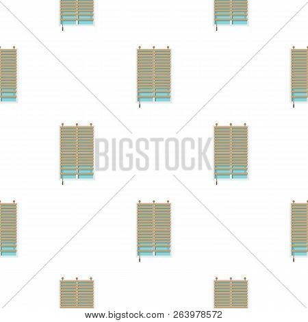 Window With Wooden Jalousie Pattern Seamless Flat Style For Web Illustration