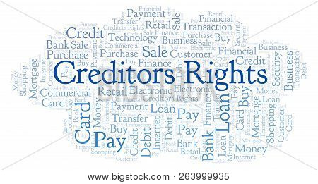 Creditors Rights Word Cloud. Wordcloud Made With Text Only.