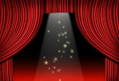 red curtain and limelight poster