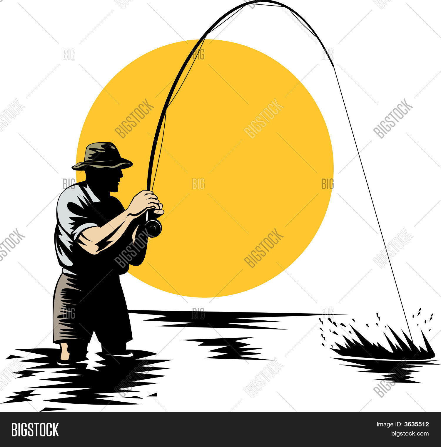 fly fisherman vector photo free trial bigstock fly fisherman vector photo free