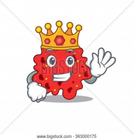 A Wise King Of Streptococcus Pneumoniae Mascot Design Style