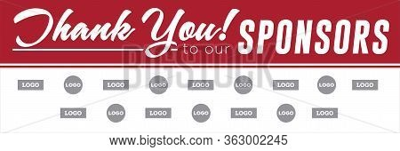 Sponsor Banner Template | Vector Layout For Charity & Donor Signage | Fundraising Event Signs
