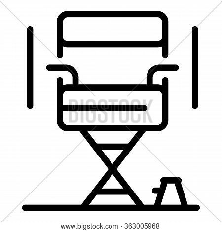Directors Chair Icon. Outline Directors Chair Vector Icon For Web Design Isolated On White Backgroun