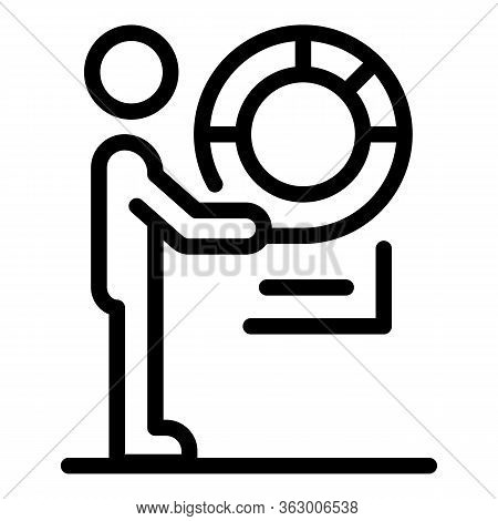 Man With A Lifebuoy Icon. Outline Man With A Lifebuoy Vector Icon For Web Design Isolated On White B