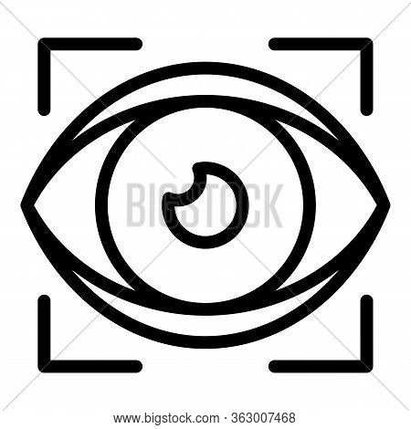 Eye Examination Icon. Outline Eye Examination Vector Icon For Web Design Isolated On White Backgroun