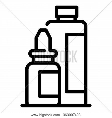 Remedy Bottle Icon. Outline Remedy Bottle Vector Icon For Web Design Isolated On White Background