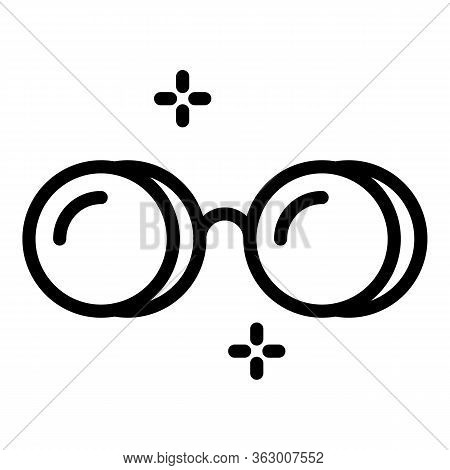 Glasses Without Arches Icon. Outline Glasses Without Arches Vector Icon For Web Design Isolated On W