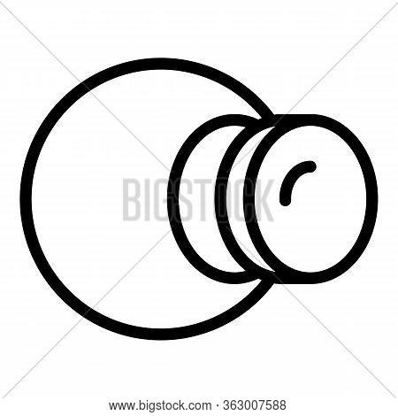 Eye Anatomy Icon. Outline Eye Anatomy Vector Icon For Web Design Isolated On White Background