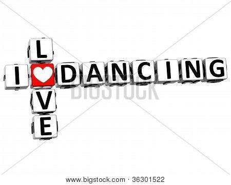 3D I Love Dancing Crossword