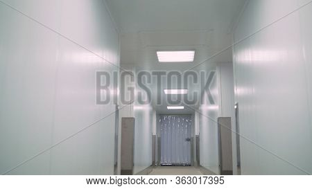 Large White Industrial Refrigerator. Refrigerator. Industrial. Industrial Refrigerator For Freezing.