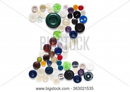 Letter Z Of Sewing Button Alphabet. Latin Alphabet From Buttons . Letter From Buttons. Font From But