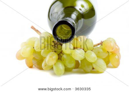 Bottleneck And Green Grapes