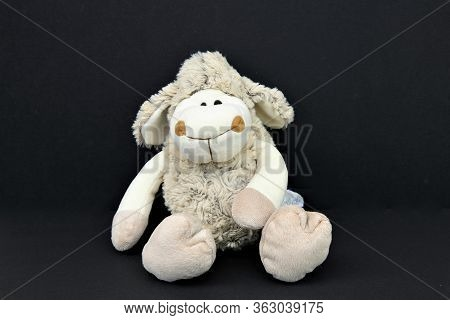 A Nice  Sheep Made Of Plush - A Cute Little Toy For Youngsters