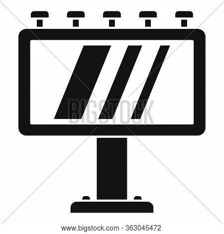 Ad Billboard Icon. Simple Illustration Of Ad Billboard Vector Icon For Web Design Isolated On White