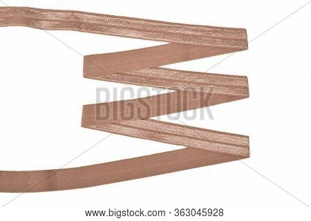 Underwear Elastic Band For Clothes And Bras On A White Background, Zigzag. Isolated.