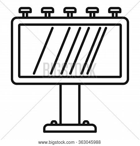 Ad Billboard Icon. Outline Ad Billboard Vector Icon For Web Design Isolated On White Background