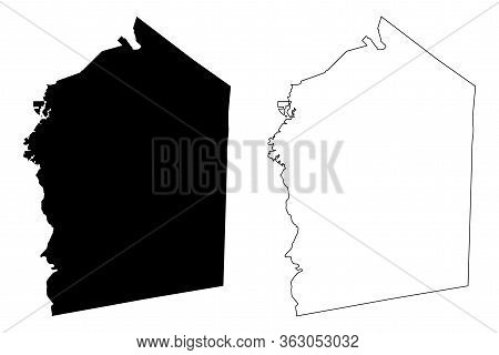 Jasper County, Georgia (u.s. County, United States Of America,usa, U.s., Us) Map Vector Illustration