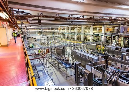 South African Breweries Bottling Plant Undergoing An Upgrade To Its Assembly Line