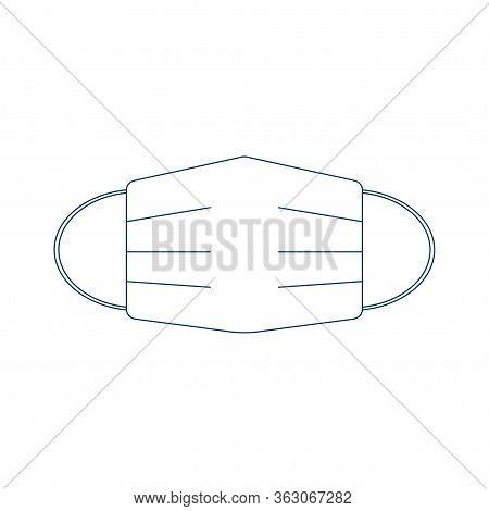Medical Mask Icon Isolated On White Background. Vector Illustration