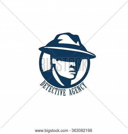 Private Detective Logo Of Vector Man In Hat