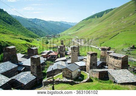 Ancients Towers Of The Ushguli Village - Upper Svaneti, Georgia, Europe