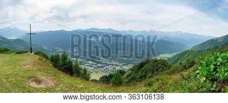 Beautiful Landscape View On The Road To Koruldi Lakes, Mestia, Upper Svaneti, Georgia