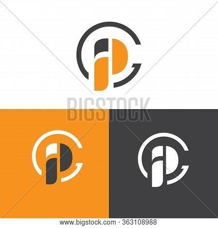 Letter Ip Simple Symbol Vector Template In Orange Color. Business Ip Letter Symbol Design. Vector Il