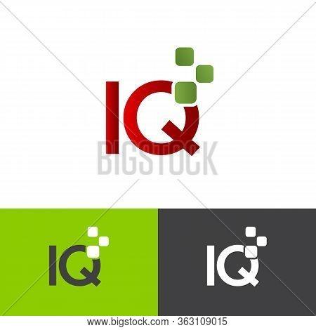 Letter Iq Simple Symbol Vector Template On The White Background. Business Iq Letter Symbol Design. V