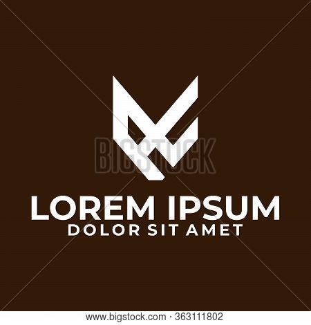 Initial Letter A C Or X Logo Template With Modern Fox Head Symbol In Flat Design Monogram Illustrati