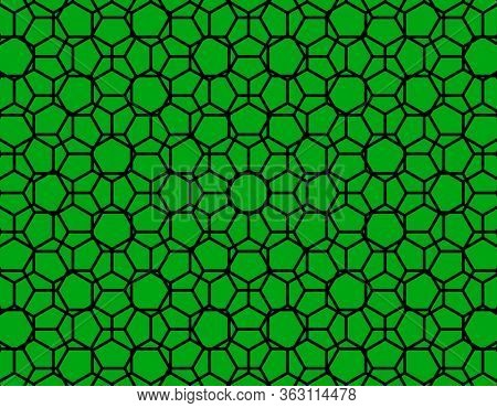 Black and green geometric pattern