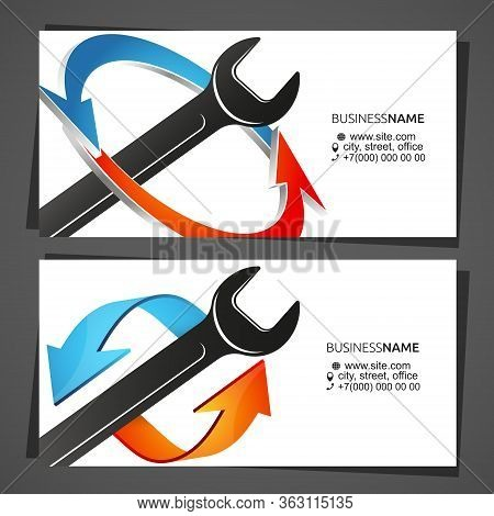 Air Conditioning Cooling And Heating Service Business Card Concept