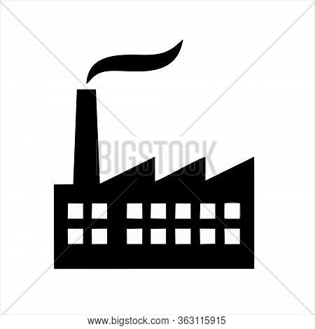 Factory Icon Isolated On White Background. Factory Icon In Trendy Design Style.
