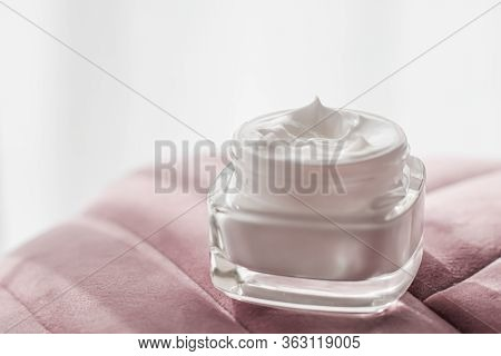 Face Cream Moisturizer In A Jar, Luxury Skincare Cosmetics And Organic Anti-aging Product For Health