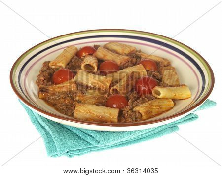 Beef and Chianti Rigatoni Pasta