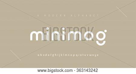 Abstract Minimal Modern Alphabet Fonts. Typography Minimalist Urban Digital Fashion Future Creative
