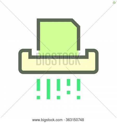 Destroy Document Vector Icon Design, 48x48 Pixel Perfect And Editable Stroke.
